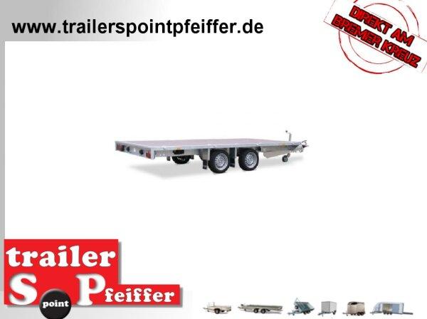 Eduard 2700 KG Hochlader - Gebremste Doppelachser - 3.3x1.8m - Ladehöhe:56 cm - 195/55R10 - Flach
