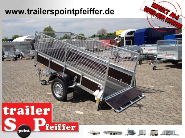 Pongratz LPA 250/12 G-H(Z)-K 1300 kg  Holzanhänger Kipper - Gitter