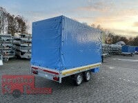 Eduard 2000 KG Hochlader - Gebremste Doppelachser - 3.1x1.6m - Ladehöhe:72 cm - 155R13 - Bordwände 30cm mit Plane SP-Line
