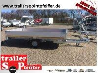 Eduard 1500 KG Hochlader - Gebremste Einzelachser - 3.3x1.8m - Ladehöhe:56 cm - 195/55R10 - Bordwände 30cm