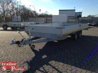 Eduard 3000 KG Hochlader Gebremste Doppelachser - 5.0x2.2m - Ladehöhe:63 cm - 195/50R13 - Bordwände 30cm