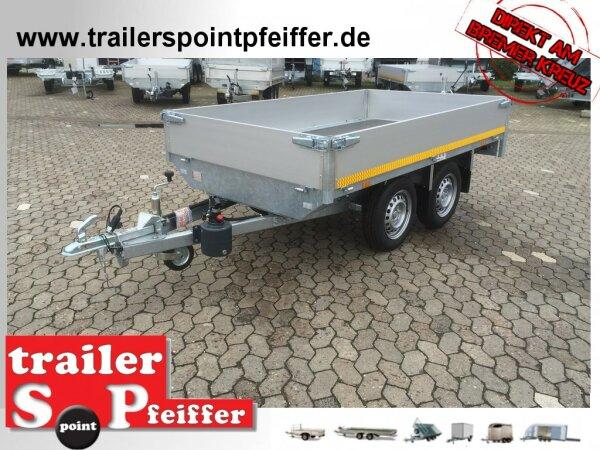 Eduard 750 KG Rückwärts Kipper - Ungebremste Doppelachser - 2.6x1.5m - Ladehöhe:72 cm - 155R13 - Bordwände 30cm