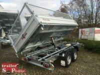 Pongratz 3-SKS 3600/17 T-AL 3500 Tandem Dreiseitenkipper E-Pumpe Gitteraufsatz
