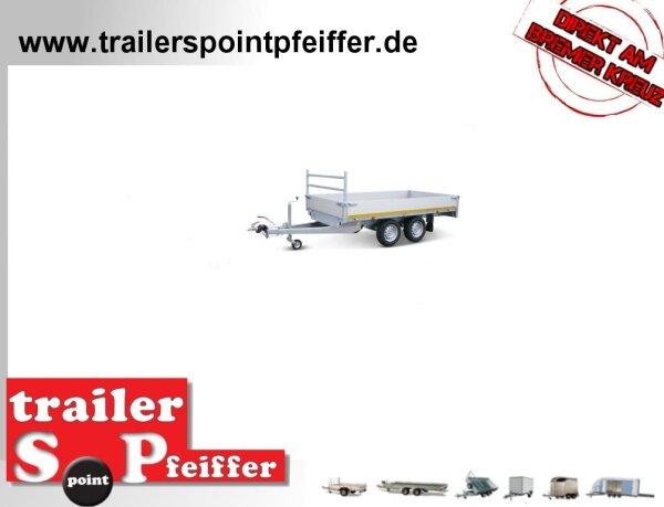Eduard 2000 KG Hochlader - Gebremste Doppelachser - 3.1x1.6m - Ladehöhe:56 cm - 195/55R10 - Bordwände 30cm