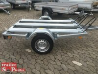 TPV ( Böckmann ) MU2 Motorrad - Anhänger - 750 kg - 3 Standschienen - 100 KM/H