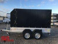 Böckmann TL-AL 3015/20 ALU Tieflader Anhänger - mit Plane / Spriegel ÖKO Schräge