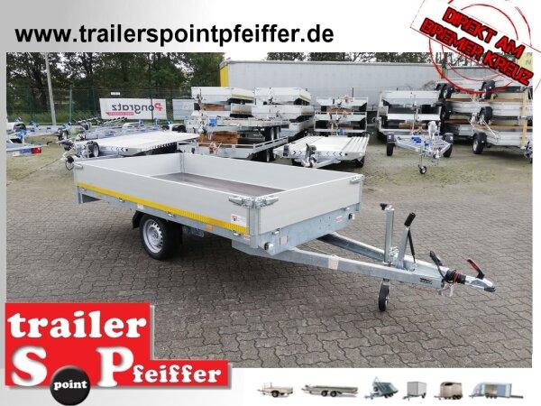 Eduard 1500 KG Hochlader - Gebremste Einzelachser - 3.1x1.6m - Ladehöhe:63 cm - 195/50R13 - Bordwände 30cm