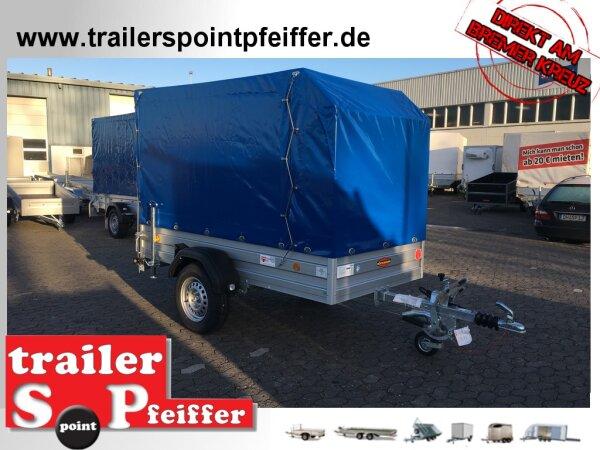 Böckmann TL-AL 2513/135 ALU Tieflader Anhänger - gebremst mit Hochplane SP-Line und ÖKO Schräge