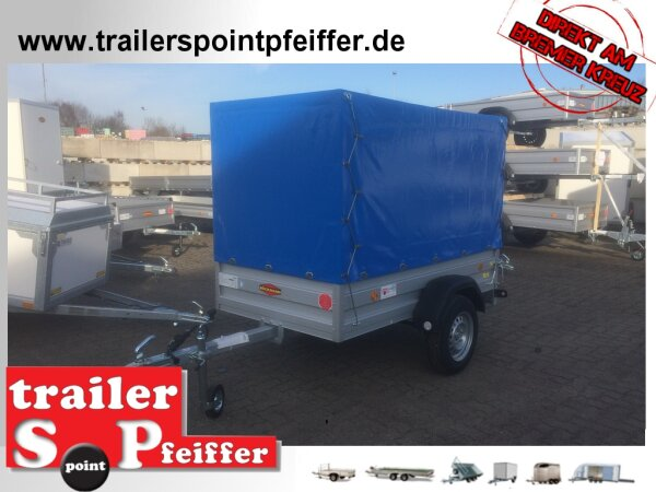 Böckmann TL-AL 2111/75 ALU Tieflader Anhänger - ungebremst Hochplane SP-Line