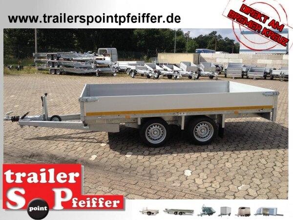 Eduard 2700 KG Hochlader - Gebremste Doppelachser - 4.0x1.8m - Ladehöhe:56 cm - 195/55R10 - Bordwände 30cm