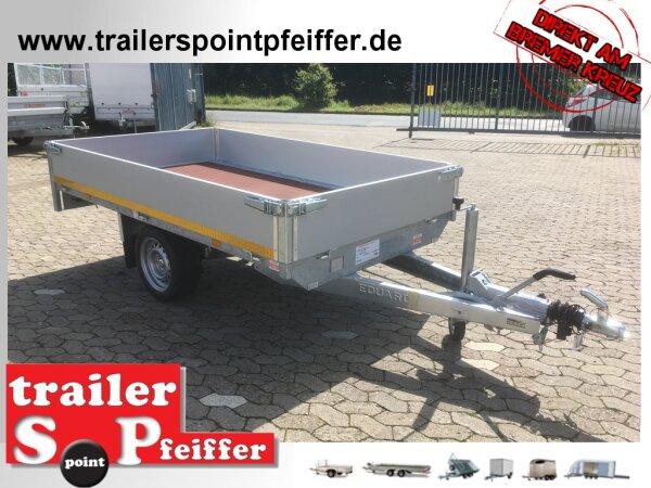 Eduard 1350 kg Hochlader - Gebremste Einzelachser - 2.6x1.5m - Ladehöhe:63 cm - 195/50R13 - Bordwände 30cm