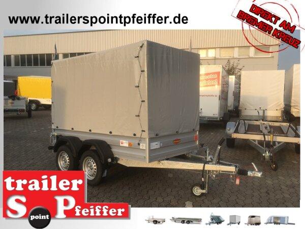 Böckmann TL-AL 2513/20 ALU Tieflader Anhänger - mit Hochplane SP-Line