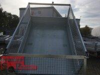 Pongratz L-RK 2315 G-AL 1500 kg ALU Rückwärtskipper gebremst - Gitteraufsatz 60 cm