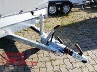 Eduard 1500 KG Hochlader - Gebremste Einzelachser - 2.6x1.5m - Ladehöhe:63 cm - 195/50R13 - Bordwände 30cm Hochplane SP-Line - 100 KM/H