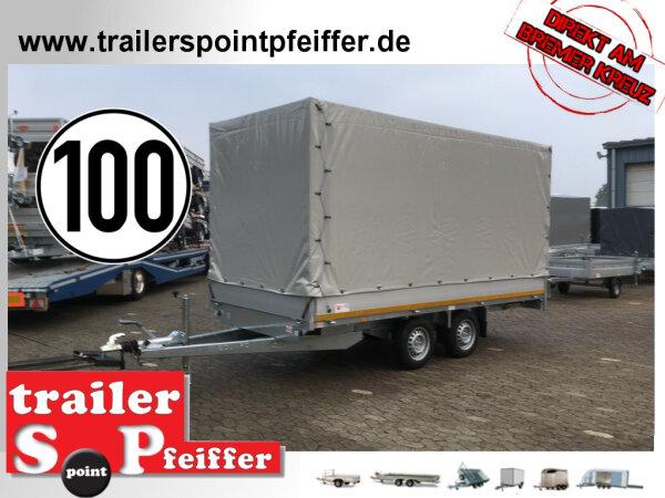 Eduard 2000 KG Hochlader 406 x 180 - 2.000 kg - 72 cm Ladekante - Hochplane SP-Line - 100 KM/H