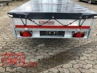 Eduard 1500 KG Hochlader - Gebremste Einzelachser - 2.6x1.5m - Ladehöhe:63 cm - 195/50R13 - Bordwände 30cm - Flachplane