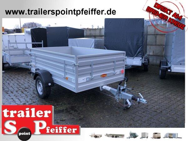 Böckmann TL-AL 2515/135 ALU Tieflader Anhänger - gebremst - ALU Kastenaufsatz