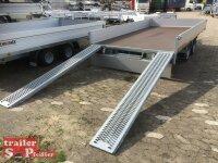 Eduard 3000 KG Multitransporter - Gebremster Doppelachser - 4.0x2.0m - Ladehöhe:63 cm - 195/50R13 - Auffahrschienen  - Bordwände 30cm