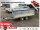Eduard 2000 KG Hochlader - Gebremster Doppelachser - 3.1x1.6m - Ladehöhe:72 cm - 155R13 - Bordwände 30cm  - 60 cm Stahl Kastenaufsatz Flachplane und 3 Bügel