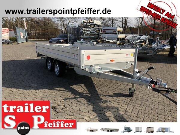 Böckmann HL-AL 4118/27 F - Niedrig Alu - Hochlader Anhänger Profi Paket - Auffahrrampen