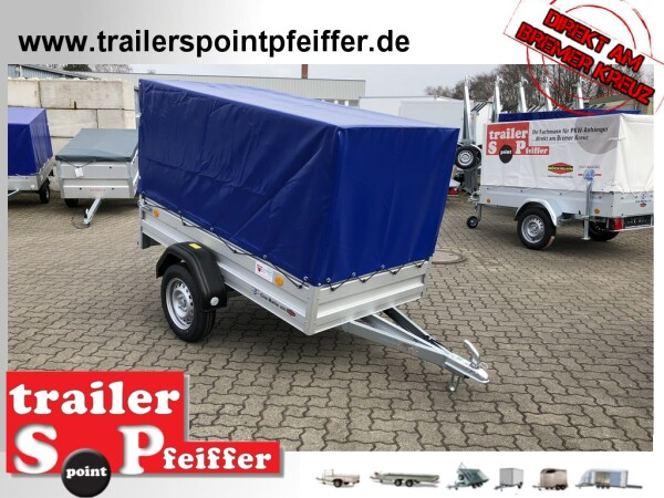 TPV TL-AL EU2 Doppelwandige ALU Bordwand - Anhänger mit Hochplane ungebremst - 100 KM/H