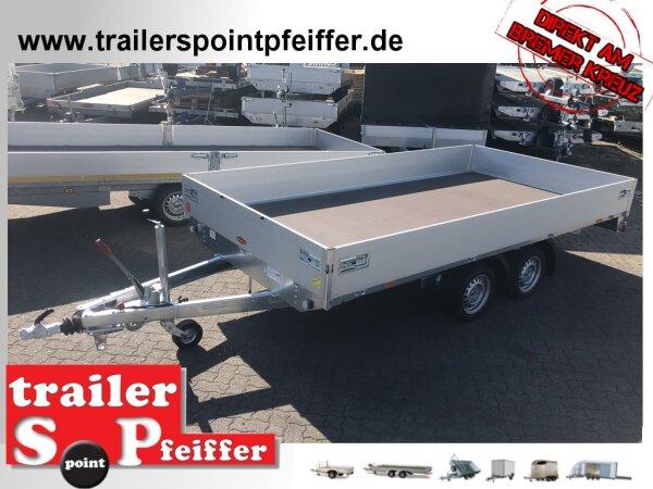 Böckmann HL-AL 4121/35 F ( 18 ) - Niedrig Alu - Hochlader Anhänger mit Profi Verschluss