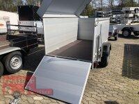 Böckmann TL-AL 2513/135 ALU Tieflader Anhänger - gebremst mit erhöhter Bordwand und Deckel