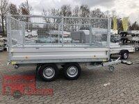 Böckmann DK-AL 3218/30 E Alu - Dreiseitenkipper mit E-Pumpe mit 100 cm Gitteraufsatz