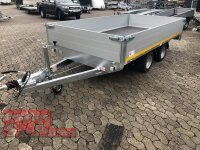 Eduard 3000 KG Hochlader - Gebremste Doppelachser - 3.3x1.8m - Ladehöhe:56 cm - 195/55R10 - Bordwände 40cm