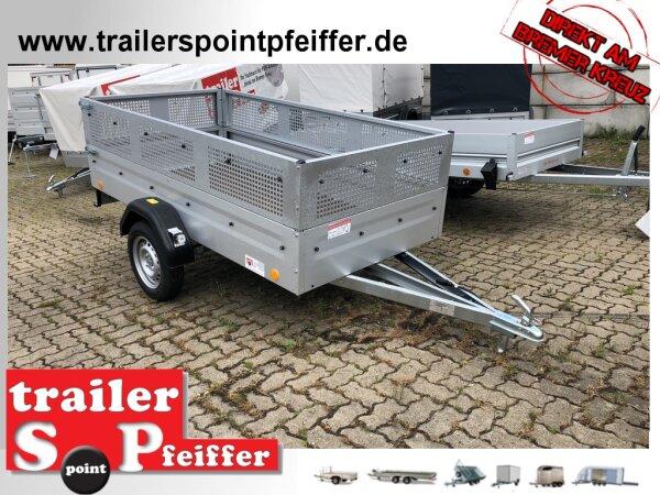 TPV TL-EU3 Anhänger 750 kg - 100 KM/H - PKW Anhänger mit Original Gitter