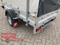Pongratz LPA 250/13 G Anhänger mit Hochplane SP - Line - Stützen - 100 KM/H - Automatikstützrad - Stützen - Plane 2 farbig