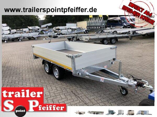 Eduard 2700 KG Hochlader - Gebremste Doppelachser - 3.1x1.6m - Ladehöhe:63 cm - 195/50R13 - 40 er Bordwände