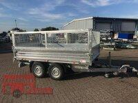 Pongratz 3-SKS 3100/17 T 3500 - Stahlwände Tandem Dreiseitenkipper E-Pumpe mit Gitteraufsatz