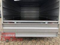 Pongratz LPA 250/13 U  Kastenanhänger mit Aufsatz und Flachplane - Stützrad - 100 KM/H