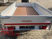 Eduard 2000 KG Hochlader - Gebremste Doppelachser - 2.6x1.5m - Ladehöhe:72 cm - 155R13 - Bordwände 30cm - Reling