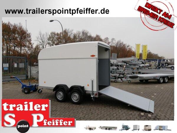 Böckmann KT-P 3015/20 M Kofferanhänger mit hohem Polyesterdach und Auffahrrampe 1200 KG