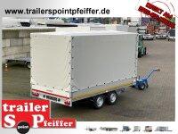Eduard 2700 KG Hochlader - Gebremste Doppelachser - 4.0x2.0m - Ladehöhe:72 cm - 185/70R13 - Bordwände 30cm mit Hochplane SP-Line