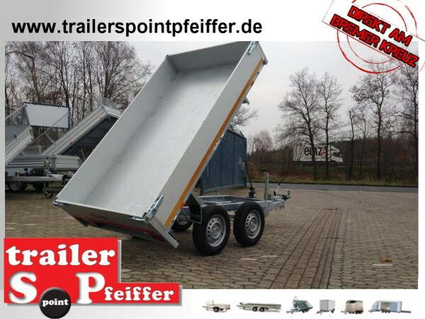 Eduard 2500 KG Rückwärtskipper - Gebremste Doppelachser - 2.6x1.5m - Ladehöhe:72 cm - 165R13 - Bordwände 30cm