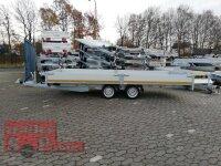 Eduard 3000 KG Multitransporter mit Rampen - Gebremste Doppelachser - 5.0x2.0m - Ladehöhe:63 cm - 195/50R13 - Bordwände 30cm