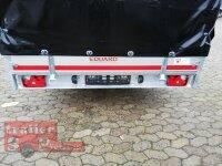 Eduard 2700 KG Multitransporter mit Rampen - Gebremste Doppelachser - 5.0x2.0m - Ladehöhe:63 cm - 195/50R13 - Bordwände 30cm mit Hochplane SP-Line