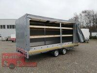 Eduard 3000 KG Multitransporter - Gebremste Doppelachser - 5.0x2.0m - Ladehöhe:63 cm - 195/50R13 - Bordwände 30cm - Rampen / Winde - mit Schiebeplane links und rechts