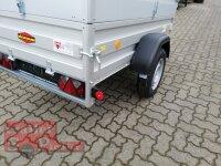 Böckmann TL-AL 2111/75 ALU Tieflader Anhänger - ungebremst mit Stahl - Kastenaufsatz 35 cm