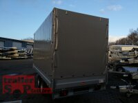 Böckmann HL-AL 4118/27 ( 18 ) Alu - Hochlader Anhänger mit Rampenschacht und Hochplane SP-Line