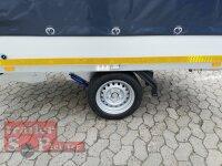 Eduard 1500 KG Multitransporter mit Rampen - Gebremste Einzelachser - 2.6x1.5m - Ladehöhe:63 cm - 195/50R13 - Bordwände 30cm Hochplane SP-Line