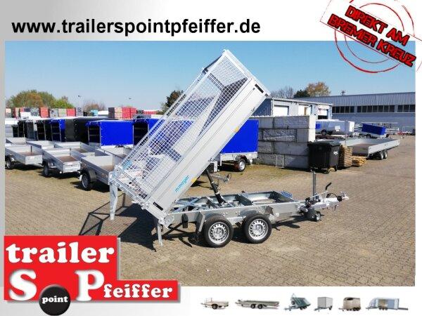 WM Meyer HKCR 2727/155 Heckkipper Tandem mit Laubgitter