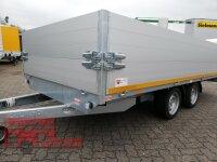 Eduard 2700 KG Multitransporter - Gebremste Doppelachser - 4.0x2.0m - Ladehöhe:63 cm - 195/50R13 - ALU - Auffahrschienen - Bordwände 30cm und 40 cm ALU Aufsatz