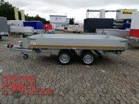Eduard 3500 KG - 3 Seitenkipper -  Gebremster Doppelachser - 3.3x1.8m - Ladehöhe:63 cm - 195/50R13C - Auffahrrampen - E-Pumpe