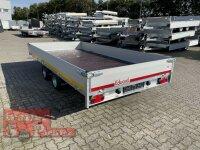 Eduard 2700 KG Hochlader - Gebremste Doppelachser - 4.0x2.0m - Ladehöhe:56 cm - 195/55R10 - Bordwände 30cm