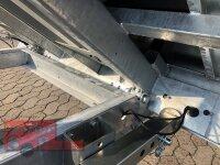 Eduard 2700 KG Heckkipper - Gebremste Doppelachser - 3.1x1.6m - Ladehöhe:72 cm - 185/70R13 - Bordwände 30cm - Auffahrtschienen - Laubgitter 70 cm