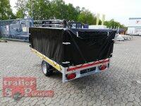 Eduard 1500 KG Hochlader - Gebremste Einzelachser - 2.6x1.5m - Ladehöhe:56 cm - 195/55R10 - Bordwände 30cm - Kastenaufsatz mit Hochplane SP-Line